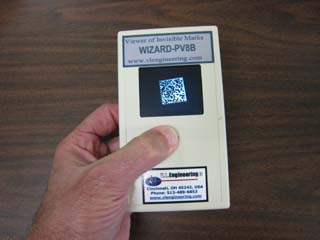 Wizard(TM) PV8B viewer looking at a Datamatrix barcode